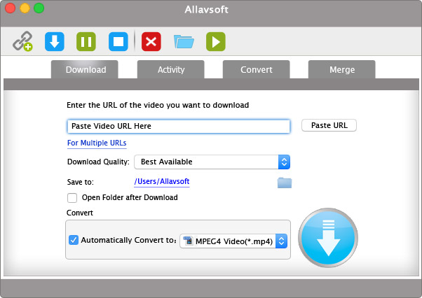 Allavsoft for Mac full screenshot